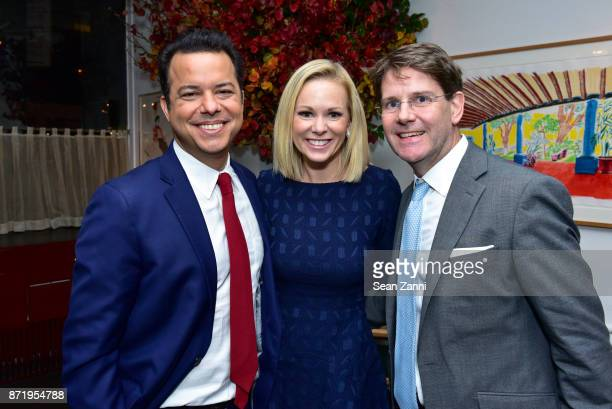 John Avalon Margaret Hoover and Jonathan Barton attend Tina Brown's publication party for The Vanity Fair Diaries at Michael's on November 8 2017 in...