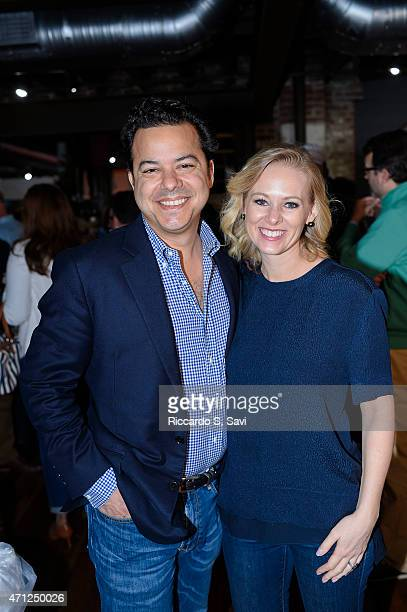 John Avlon and Margaret Hoover attend the CNN Correspondents' Brunch at Toolbox Studio on April 26 2015 in Washington DC