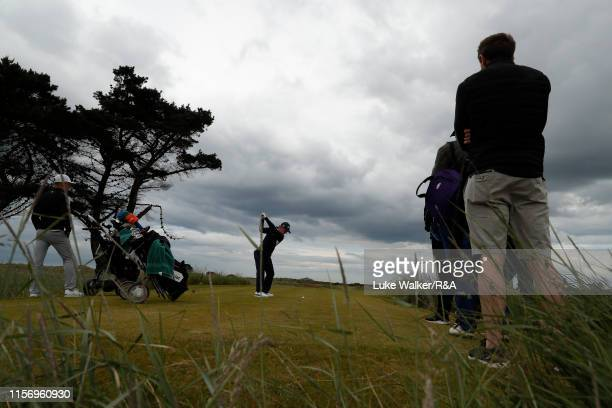 John Axelsen of Denmark in action during Day Three of the RA Amateur Championship at Portmarnock Golf Club on June 19 2019 in Portmarnock Ireland