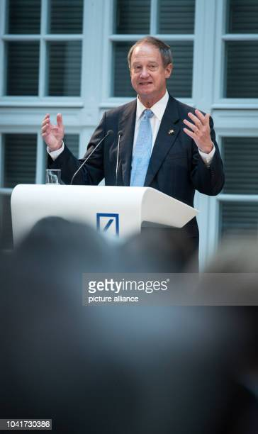 John B Emerson ambassador of the USAin Germany speaks during the AtlantikBruecke and American Council on Germany conference on the foreign and...
