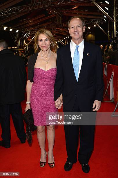 John B Emerson and his wife Kimberly Marteau Emerson attend 'The Two Faces of January' premiere during 64th Berlinale International Film Festival at...