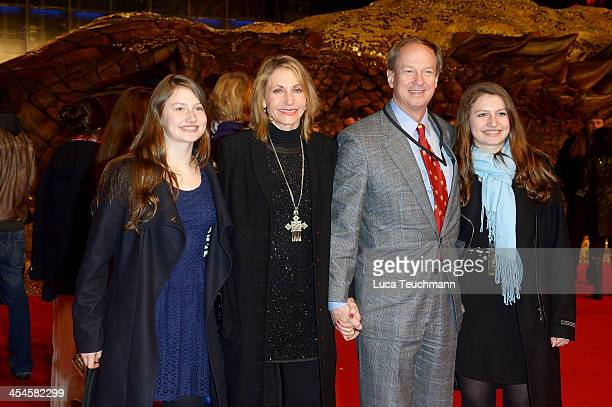 John B. Emerson and Kimberly Marteau Emerson attends the German premiere of the film 'The Hobbit: The Desolation Of Smaug' at Sony Centre on December...