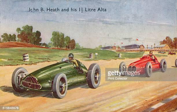 John B Heath and his 1 1/2 Litre Alta' circa 1953 John Heath British motor racing pioneer driver and engineer [Photochrom Co Ltd Kent circa 1953]...
