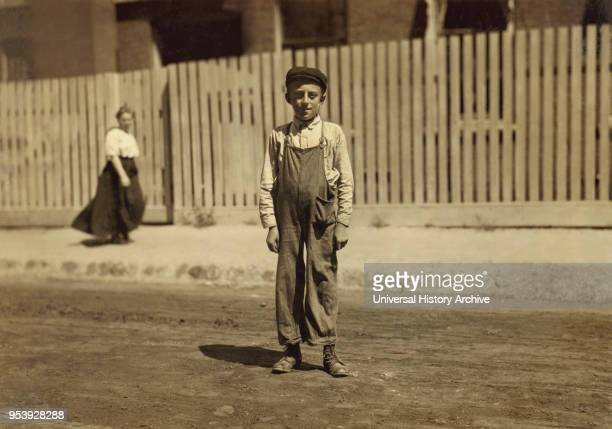 John Bachman 14 years old Textile Mill Worker New Bedford Massachusetts USA Lewis Hine for National Child Labor Committee August 1911