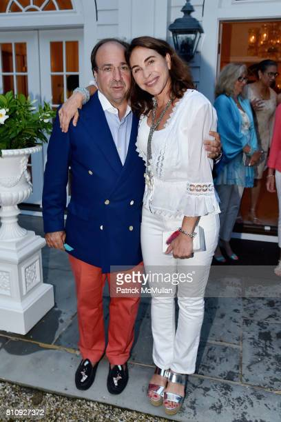John Bader and Peggy Bader attend Katrina and Don Peebles Host NY Mission Society Summer Cocktails at Private Residence on July 7 2017 in...