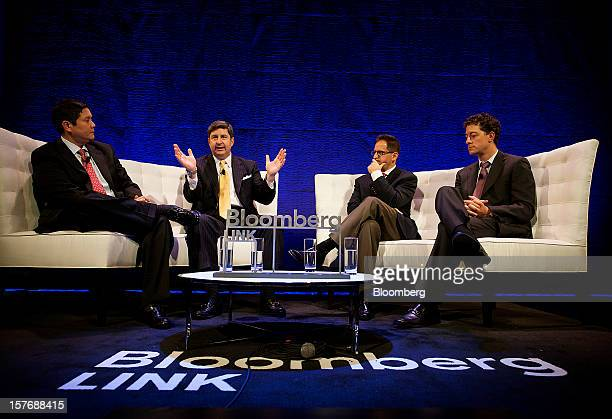 John Bailey, founder and chief executive officer of Spruce Private Investors LLC, from second left, Gideon King, president and chief investment...