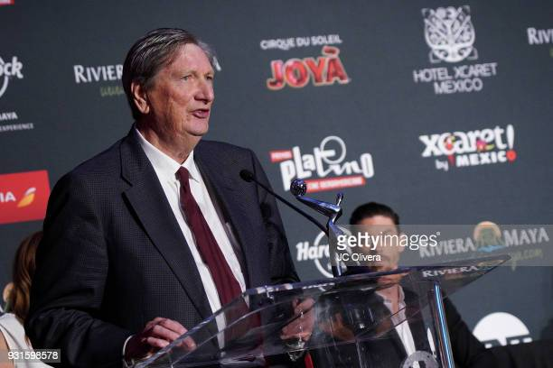John Bailey speaks during the 5th Annual Premios PLATINO Of Iberoamerican Cinema Nominations Announcement at Hollywood Roosevelt Hotel on March 13...