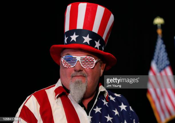 John Baker attends an election night rally for Republican Senate candidate Mike Braun on November 6 2018 in Indianapolis Indiana Braun locked in a...