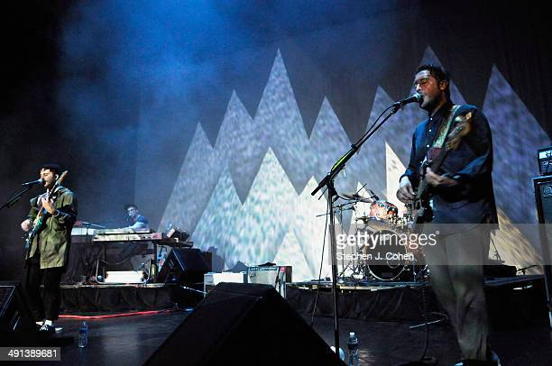 John Baldwin Gourley, Kyle O'Quin and Zachary Carothers of Portugal. The Man performs at The Brown Theatre on May 15, 2014 in Louisville, Kentucky.