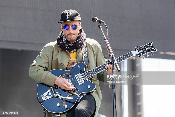 John Baldwin Gourley of Portugal the Man performs at Bottle Rock festival at Napa Valley Expo on May 31 2015 in Napa California