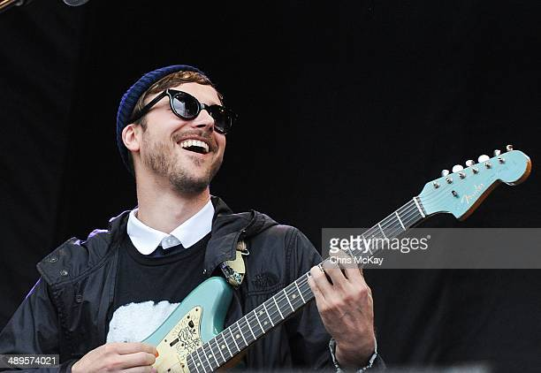 John Baldwin Gourley of Portugal The Man performs during the 2nd Annual Shaky Knees Music Festival at Atlantic Station on May 10 2014 in Atlanta...