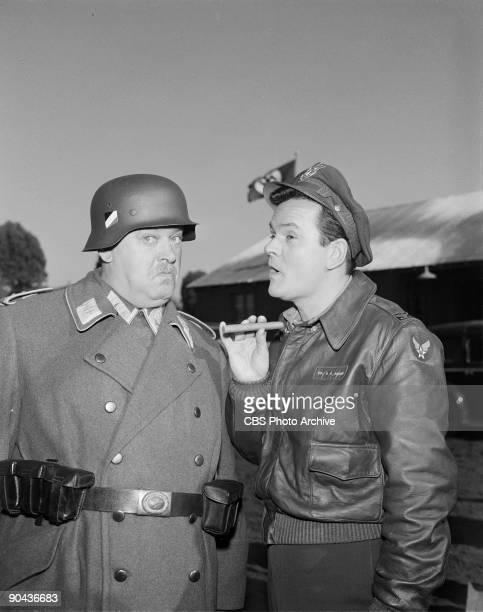 HEROES John Banner as Sgt Hans Georg Schultz left and Bob Crane as Col Robert E Hogan in the show�s pilot January 11 1965