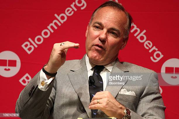 John Barger chairman of the board of investments for the Los Angeles County Employees Retirement Association speaks during the Bloomberg Link...