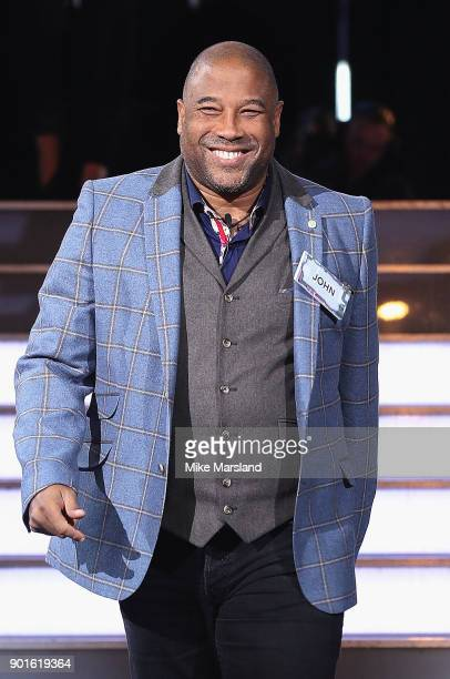 John Barnes attends the Celebrity Big Brother male contestants launch night at Elstree Studios on January 5 2018 in Borehamwood England