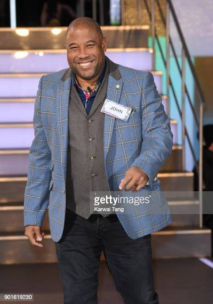 John Barnes enters the Celebrity Big Brother house at Elstree Studios on January 5 2018 in Borehamwood England