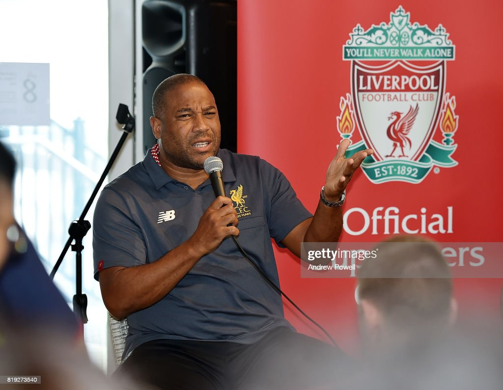 John Barnes Legend Of Liverpool During A Meet And Greet On July 20