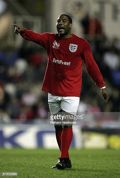 John Barnes of England in action during the Legends match between England and Germany at The Madejski Stadium on May 3 2006 in Reading England