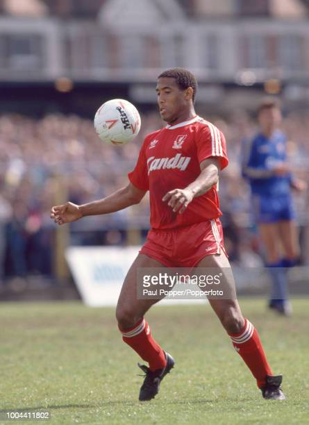 John Barnes of Liverpool in action during the Barclays League Division One match between Wimbledon and Liverpool at Plough Lane on November 4, 1987...