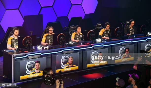 John 'BaRRaCCuDDa' Salter Rosario 'Jeffhindla' Vilardi Woonyoung 'Baskin' Kim Andrew 'Andinster' Woodward and Ryan Oh 'Aquarius' Neill of the...