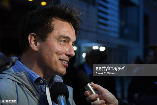 John Barrowman attends the 'Chicago' press view at Phoenix Theatre on April 11 2018 in London England
