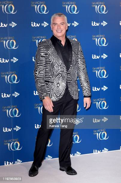 John Barrowman attends the Dancing On Ice 2019 photocall at the Dancing On Ice Studio ITV Studios Old Bovingdon Airfield on December 09 2019 in...