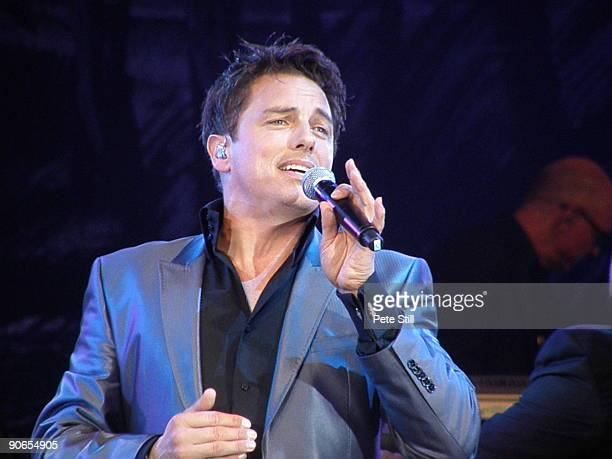 John Barrowman performs on stage at the BBC Proms In The Park at Hyde Park on September 12 2009 in London England