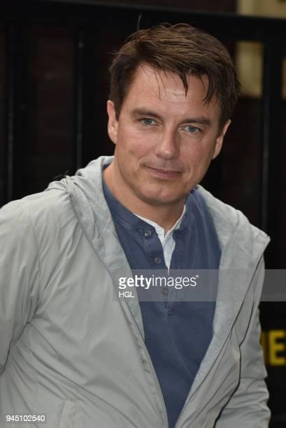John Barrowman seen at the ITV Studios on April 12 2018 in London England