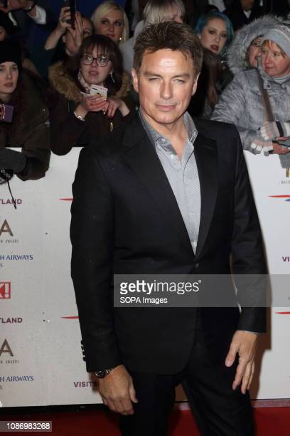 John Barrowman seen on the red carpet during the National Television Awards at the O2 Peninsula Square in London