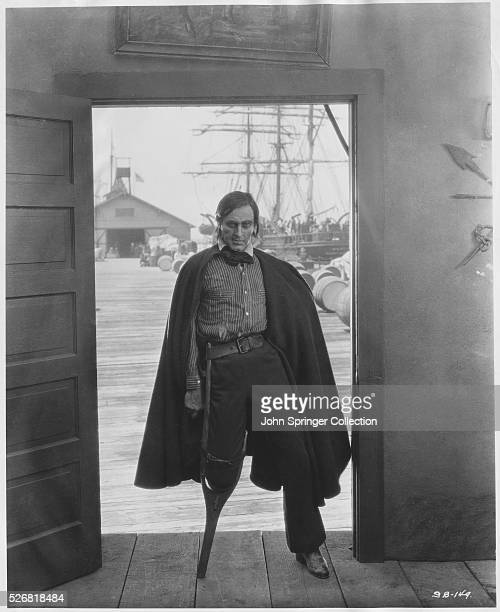 John Barrymore as Captain Ahab in the 1928 movie, The Sea Beast, and adaptation of Moby Dick.
