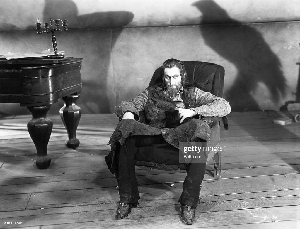 John Barrymore As Svengali, The Evil Hypnotist, Seated In A Haunted  Environment In A