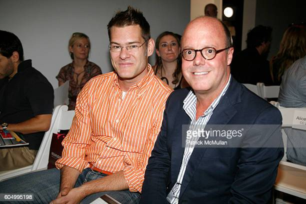 John Bartlett and Robert Burke attend ALICE ROI Spring 2007 Fashion Show at The Atelier at Bryant Park on September 9 2006 in New York City