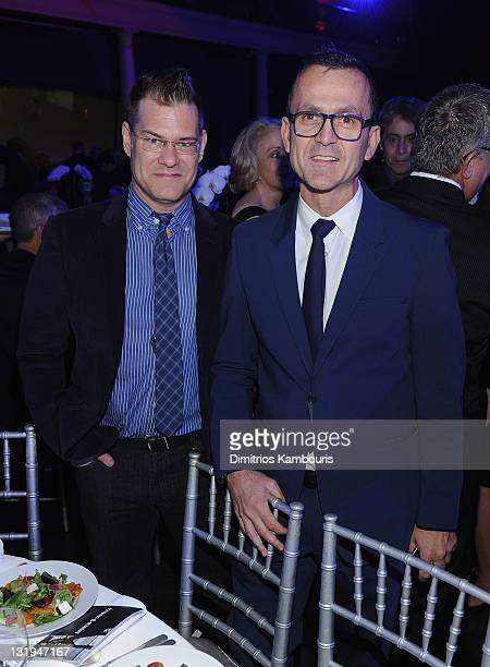 John Bartlett and Steven Kolb attend Fashion delivers 6th Annual Fashion Has A Heart Gala at American Museum of Natural History on November 8 2011 in...