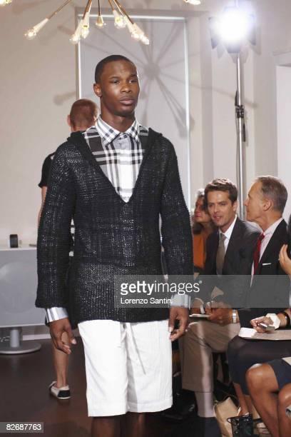John Bartlett model Courtney Taylor wears the John Bartlett Spring 2009 at 46 Greenwich Ave on September 4, 2008 in New York City.