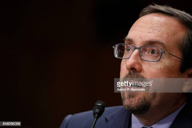 John Bass nominee to be ambassador to Afghanistan testifies before the Senate Foreign Relations Committee on Capitol Hill September 12 2017 in...