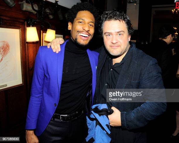 John Batiste and Leopoldo Gout attend The Players Hosts East Coast Celebration of the 2018 Producers Guild Nominees at The Players on January 16 2018...