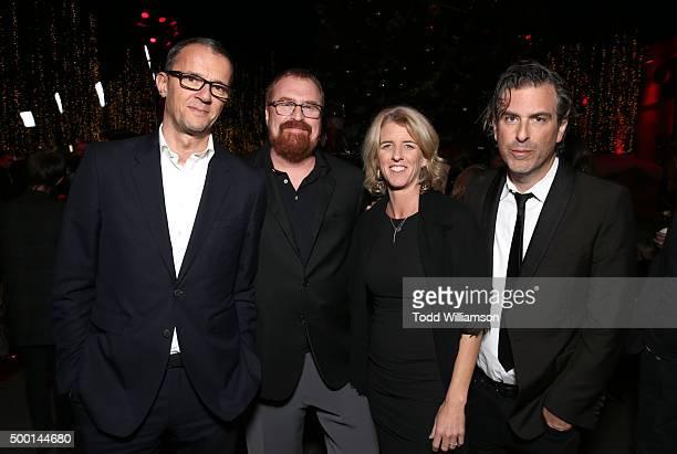 John Battsek RJ Cutler Rory Kennedyand Brett Morgen attend the 2015 IDA Awards at Paramount Studios on December 5 2015 in Hollywood California