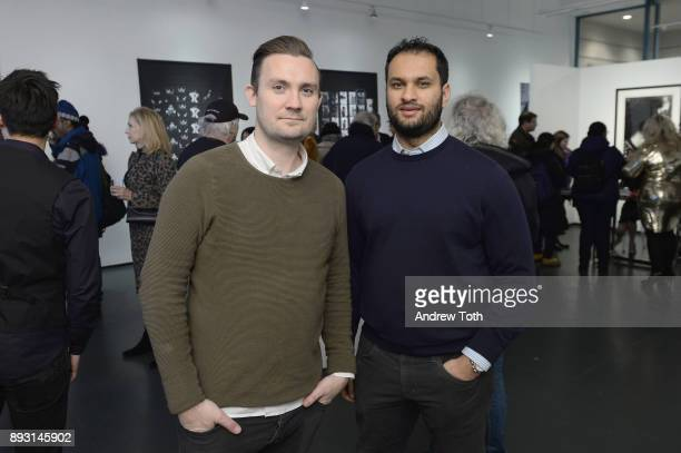 John Beasley and Fahad Hassan attend Robert Whitman Presents Prince 'Pre Fame' Private Viewing Event Exclusively On Vero on December 14 2017 in New...