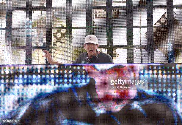 John Beaver performs onstage during day 3 of the 2014 Coachella Valley Music Arts Festival at the Empire Polo Club on April 13 2014 in Indio...