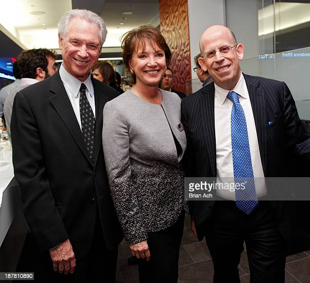 John Beck author Diane Francis and Larry Grafstein appear at the Merger Of The Century By Diane Francis Book Release Party on November 12 2013 in New...