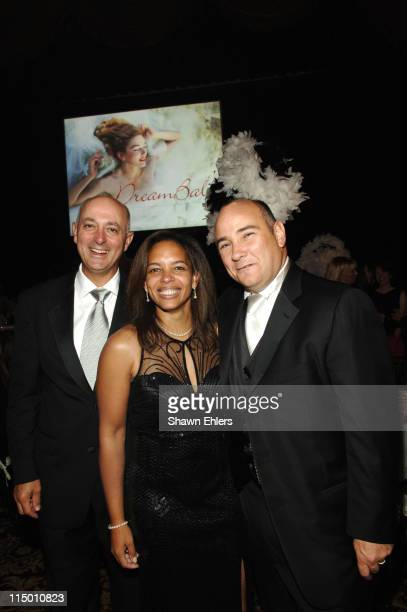 John Bellando, Jill Bright and Richard Beckman during American Cancer Society and Cosmetic Industry's DreamBall at Waldorf Astoria in New York City,...