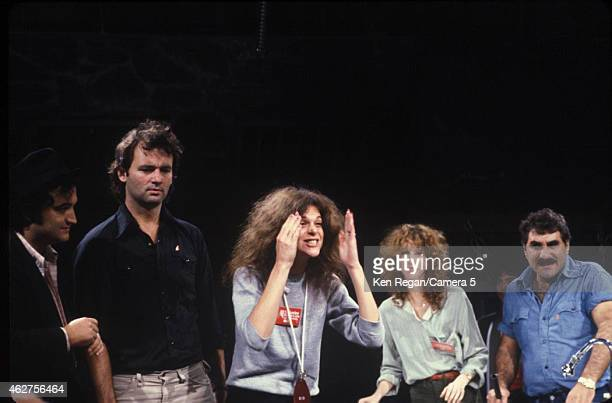 John Belushi Bill Murray Gilda Radner and Laraine Newman are photographed on the set of Saturday Night Live in 1978 in New York City CREDIT MUST READ...