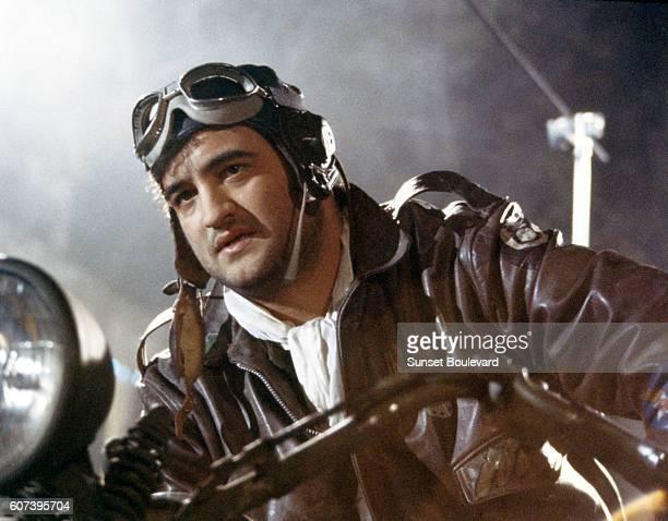 John Belushi on the set of 1941