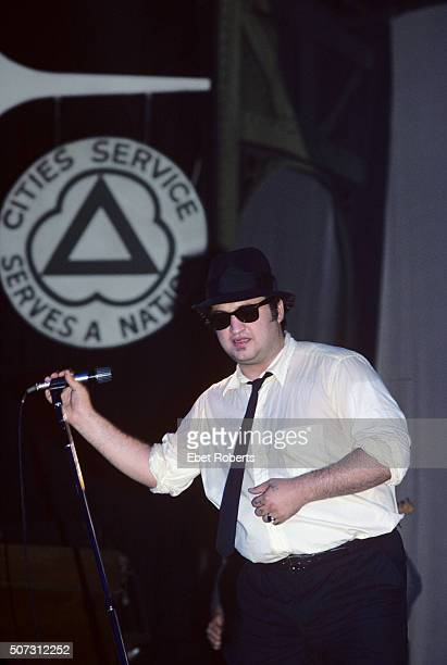 John Belushi performing with The Blues Brothers at the Palladium in New York City on June 1, 1980.