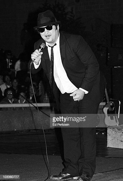 John Belushi performs with The Blues Brothers perform at Concord Pavilion in July 1980 in Concord California