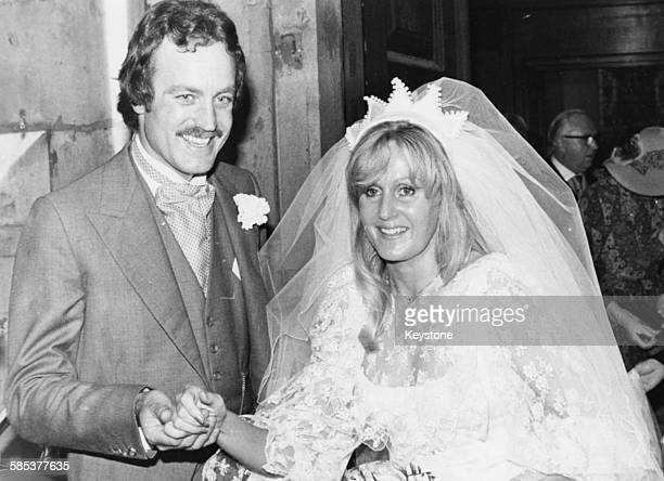 John Bendall long time friend of journalist Roddy Llewellyn and his bride Liz Brewer pictured outside St Lawrence Jewry following their wedding...