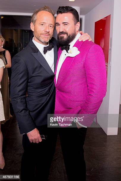 John Benjamin Hickey and Chris Salgardo attend the TWO x TWO For AIDS And Art 2014 Gala and Auction on October 25 2014 in Dallas Texas