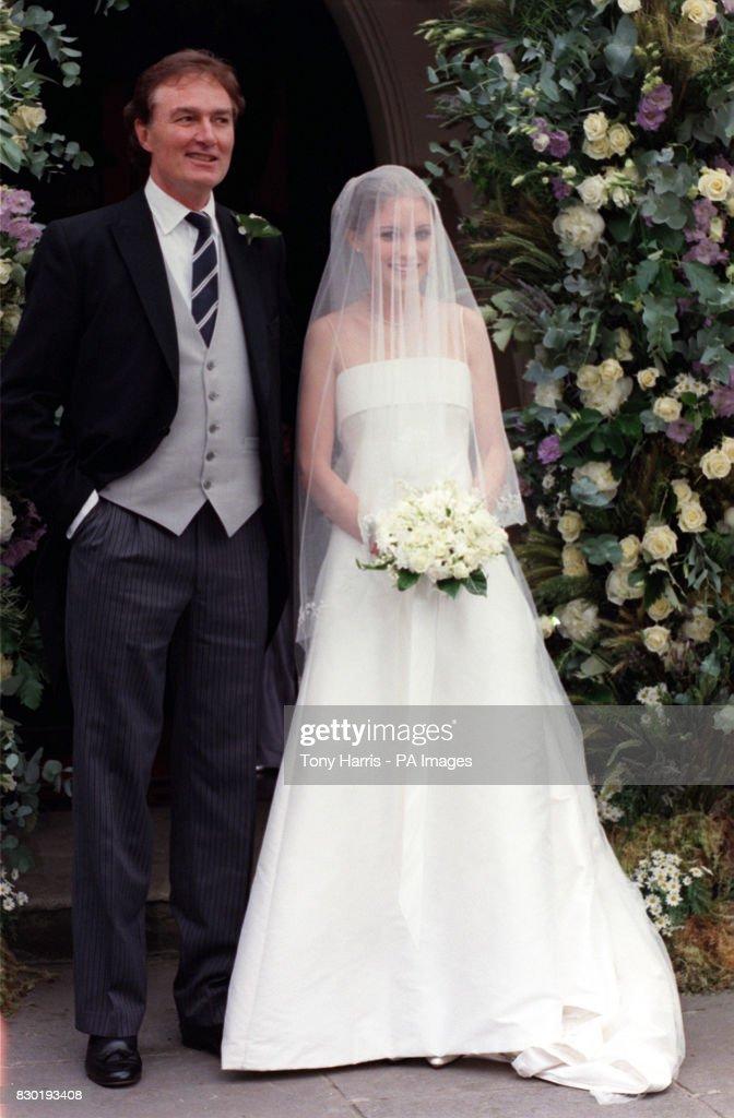 John Bentley with the bride, Sheherazade Ventura, at the church for
