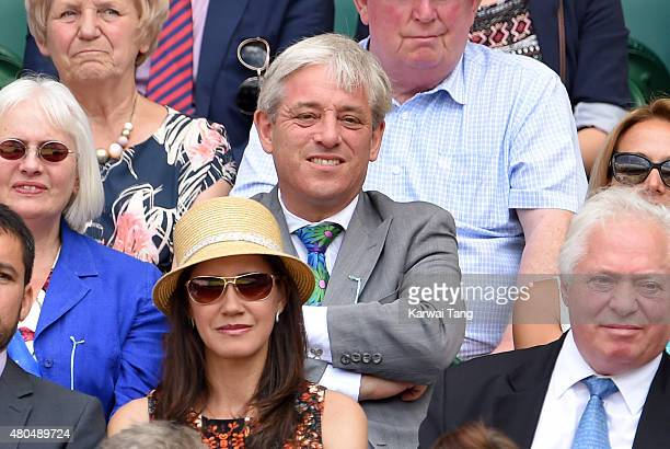 John Bercow attends day 12 of the Wimbledon Tennis Championships at Wimbledon on July 11 2015 in London England