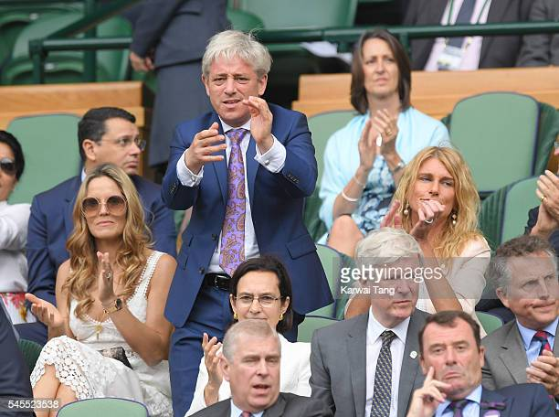 John Bercow attends day eleven of the Wimbledon Tennis Championships at Wimbledon on July 08 2016 in London England