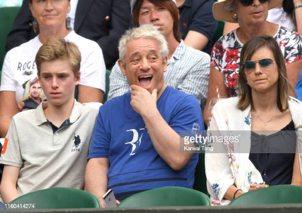 John Bercow attends day six of the Wimbledon Tennis Championships at All England Lawn Tennis and Croquet Club on July 06 2019 in London England